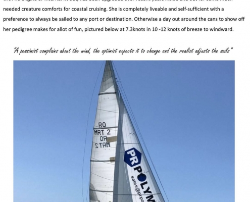 PR Polymers sailing